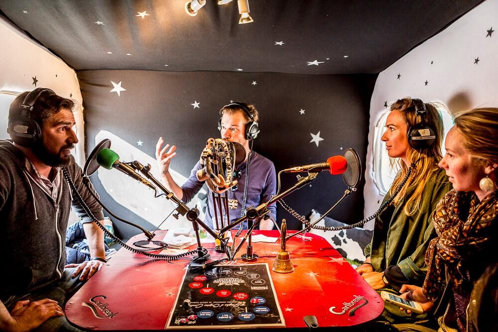 La radio Circus pendant le festival Radio Meuh