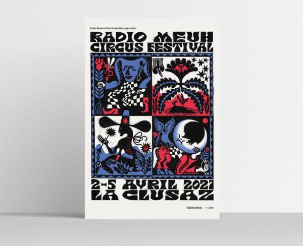 Affiche édition 2021 - Boutique Radio Meuh Circus Festival