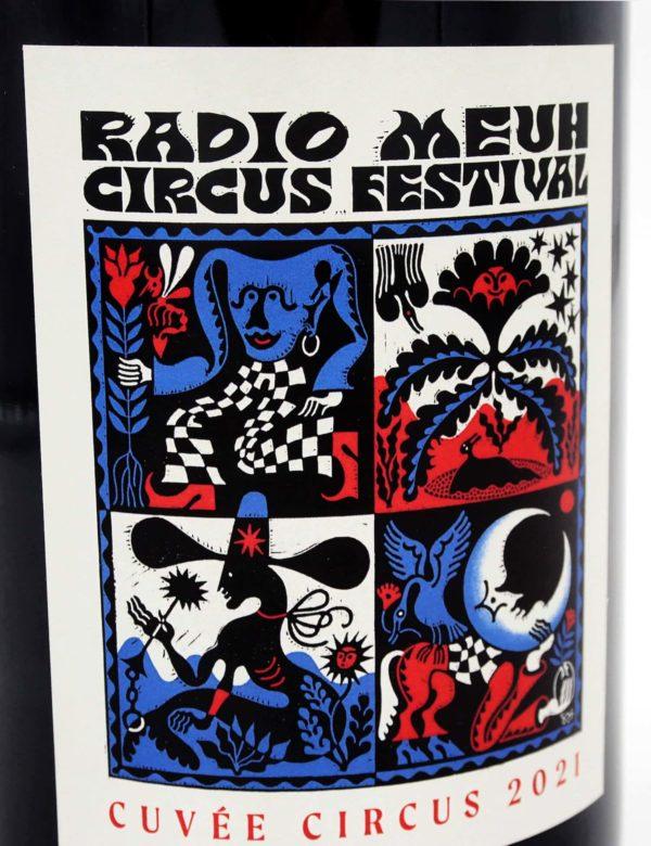 Bouteille de vin - Radio Meuh Circus Festival
